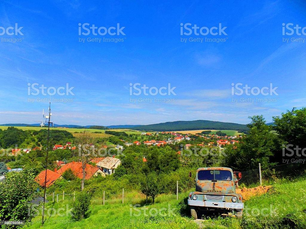 Countryside landscape royaltyfri bildbanksbilder