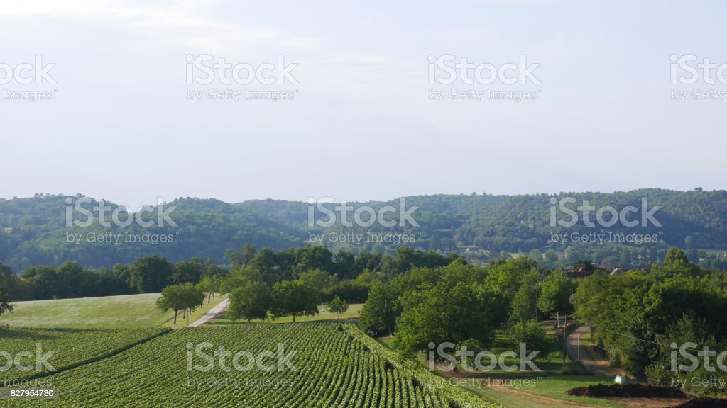 paysage de campagne stock photo