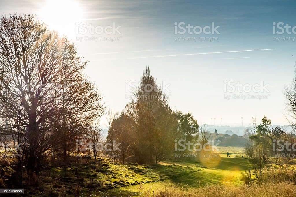 Countryside Lanscape View in United Kingdom stock photo