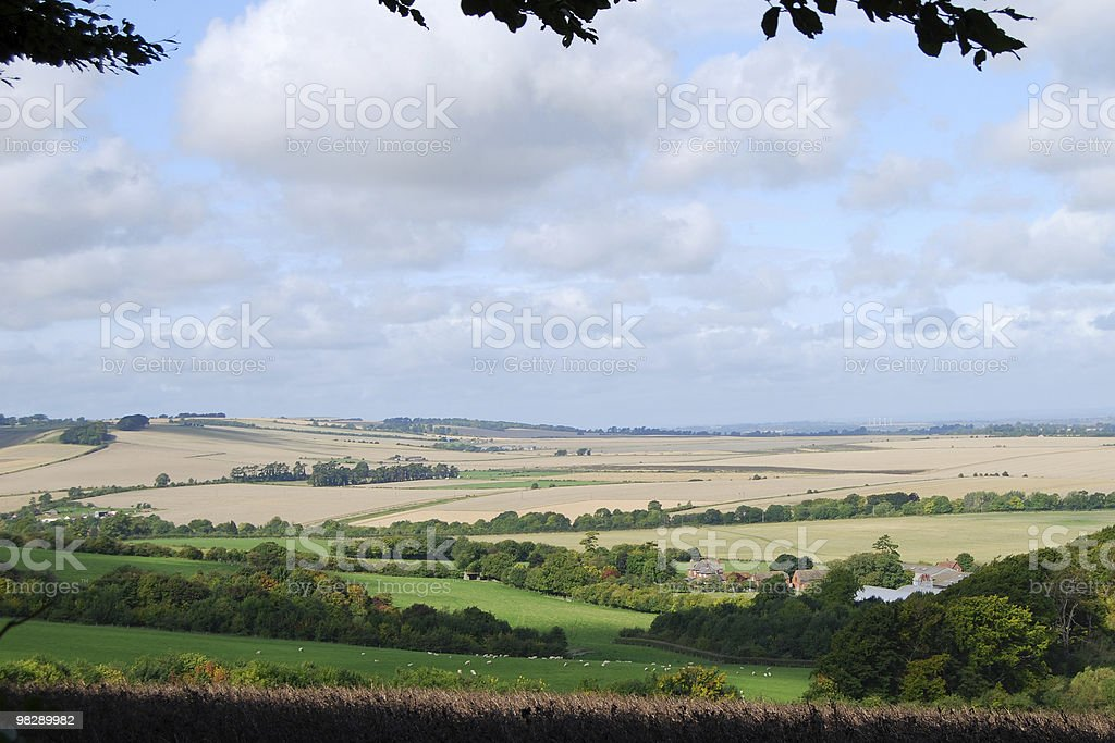 Countryside near Wantage, Oxfordshire, England royalty-free stock photo