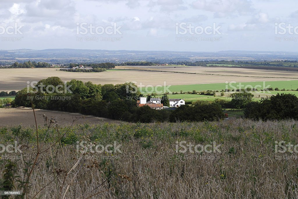 Countryside near Wantage, Oxfordshire, England royalty-free stock photo