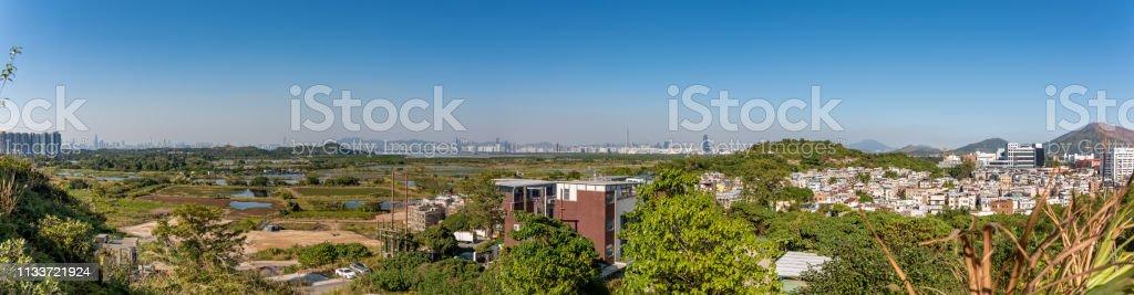 Countryside of Hong Kong stock photo