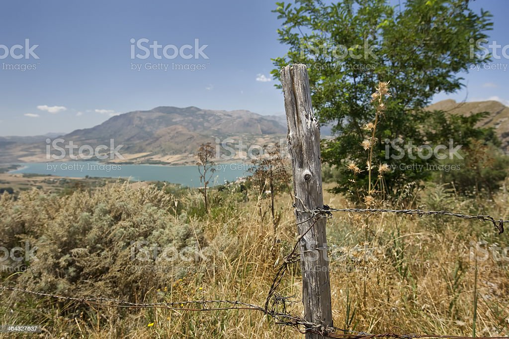 Countryside of Sicily stock photo