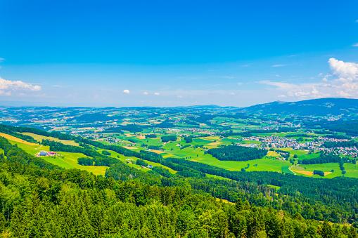 Countryside of Switzerland near Vevey, Geneva lake