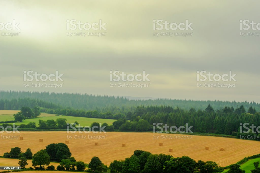 Countryside of the Warminster - Wiltshire - UK - Royalty-free Agricultural Field Stock Photo
