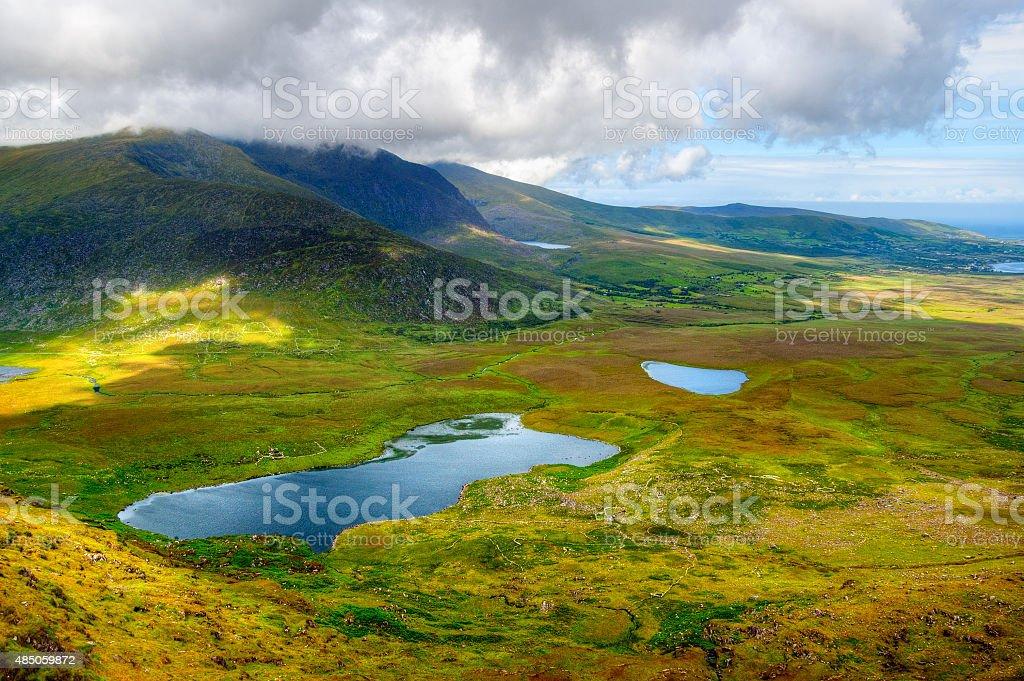 Countryside on Dingle Peninsula stock photo