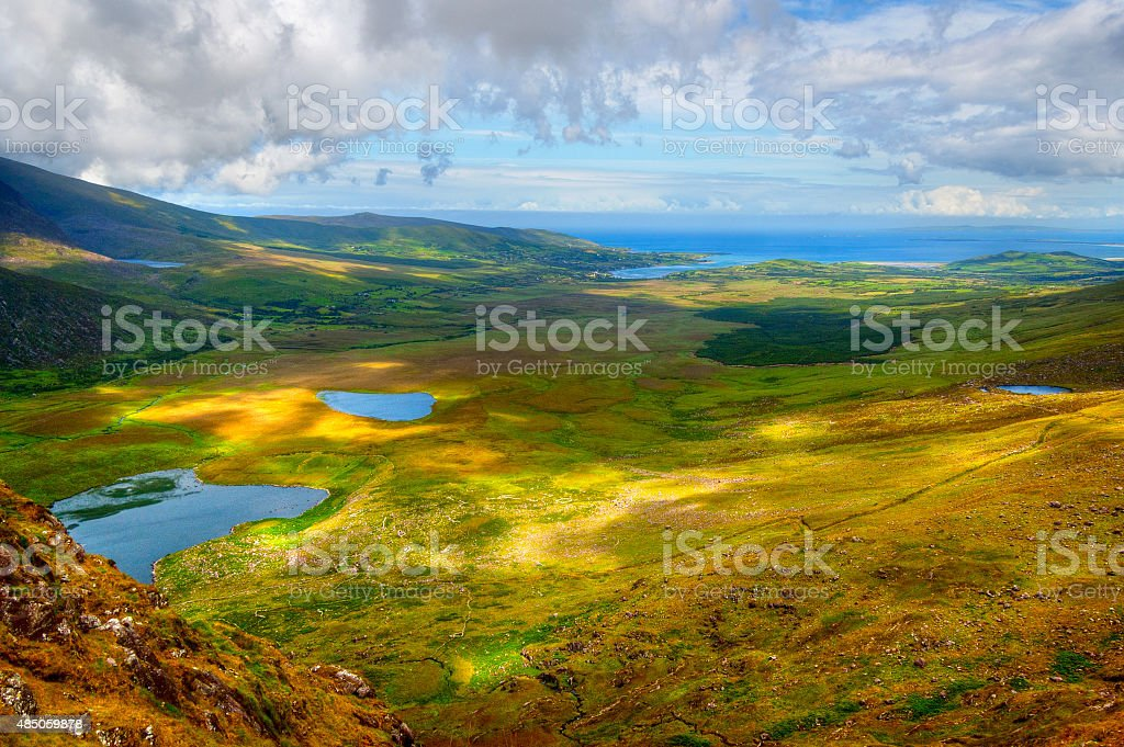 Countryside on Dingle Peninsula stock photo