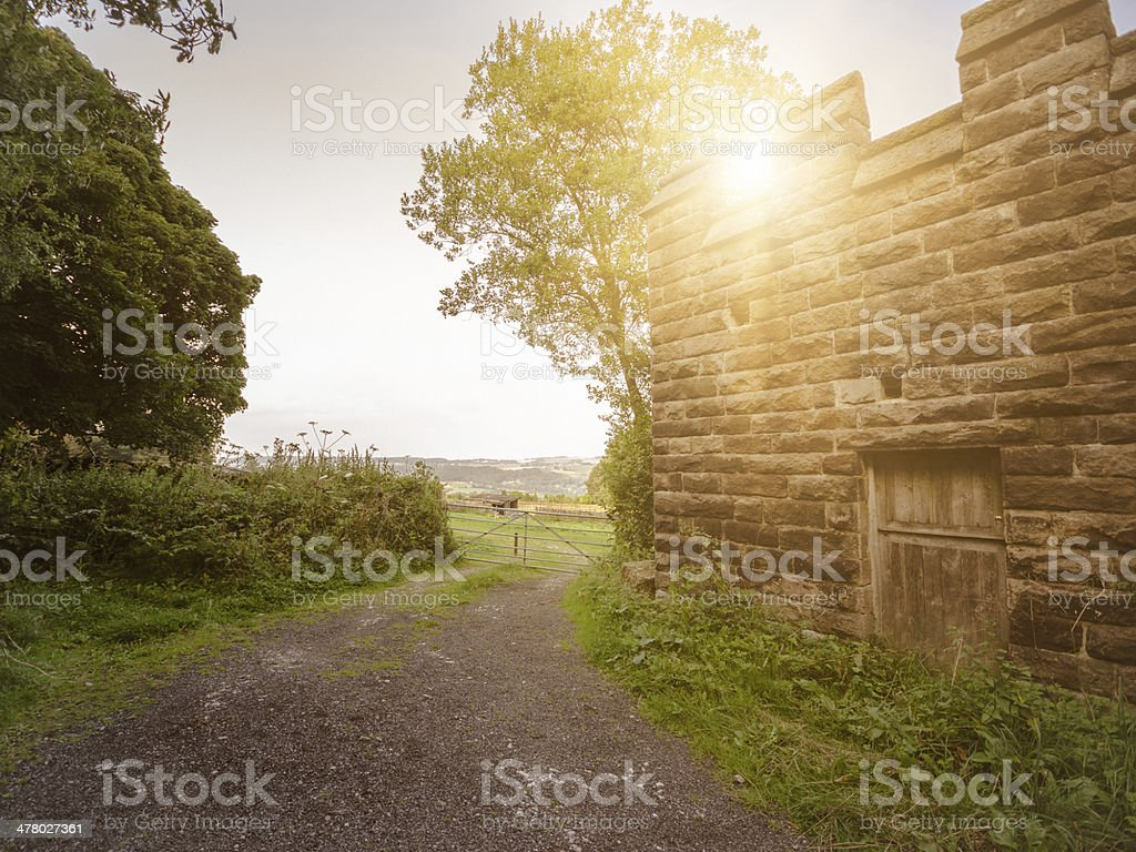 countryside on the derbyshire royalty-free stock photo