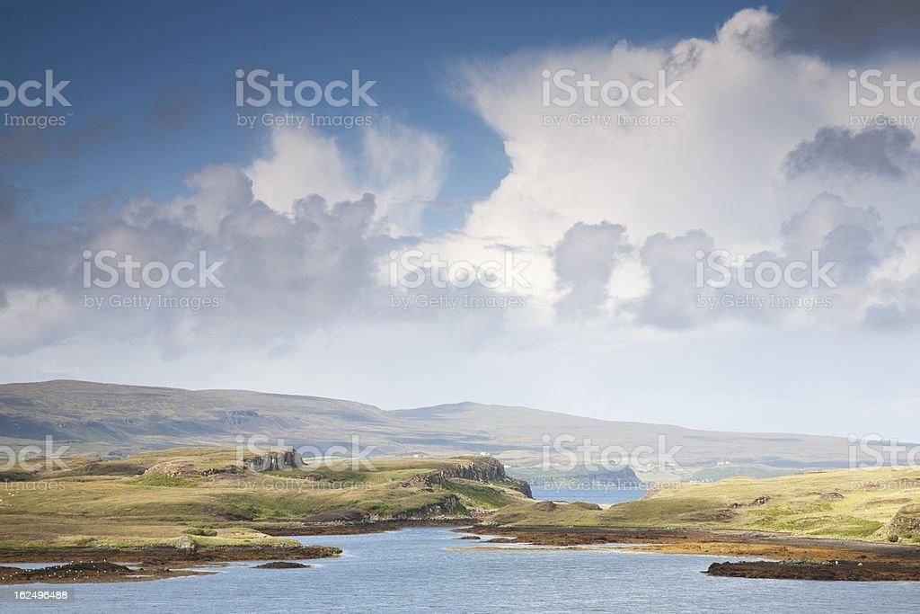 Countryside outside Dunvegan, Isle of Skye stock photo