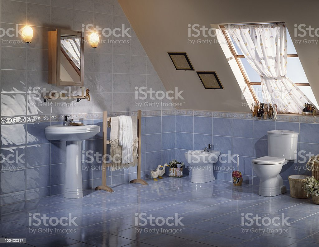 Countryside restroom stock photo