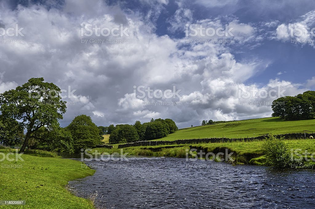 Countryside river stock photo