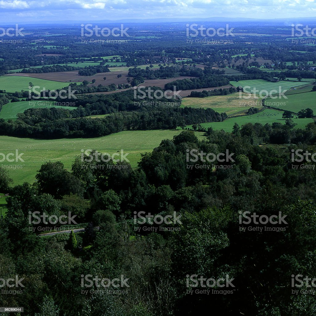 Countryside South of Leith Hill. Surrey, England royalty-free stock photo