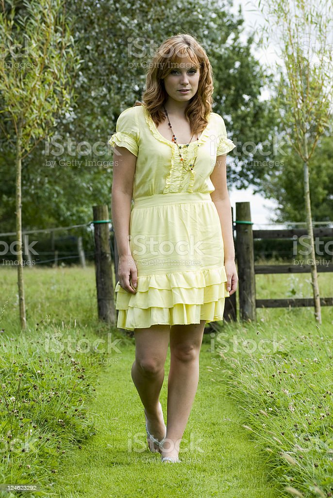 Countryside stroll royalty-free stock photo