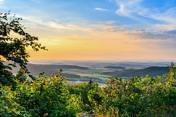 Landschaft Sommer Sonnenuntergang Landschaft – Foto
