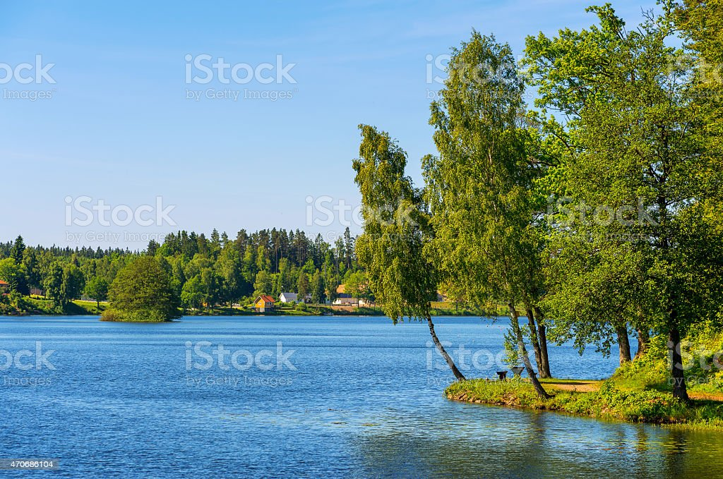 Countryside. Sweden stock photo