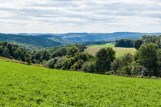 Countryside valley in Upstate New York stock photo