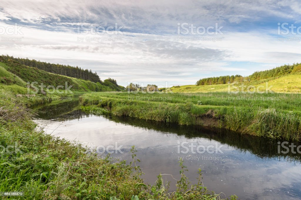 countryside view of the campaign surrounding Thurso in the Highlands royalty-free stock photo