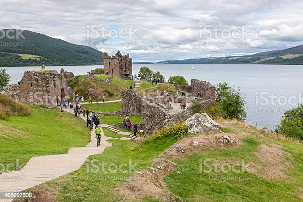 Countryside view of urquhart castle beside loch ness in uk picture id468697506?b=1&k=6&m=468697506&s=612x612&h=dho48tiebkeiaf3hq nfog9o5mp9ifro3414td bc e=