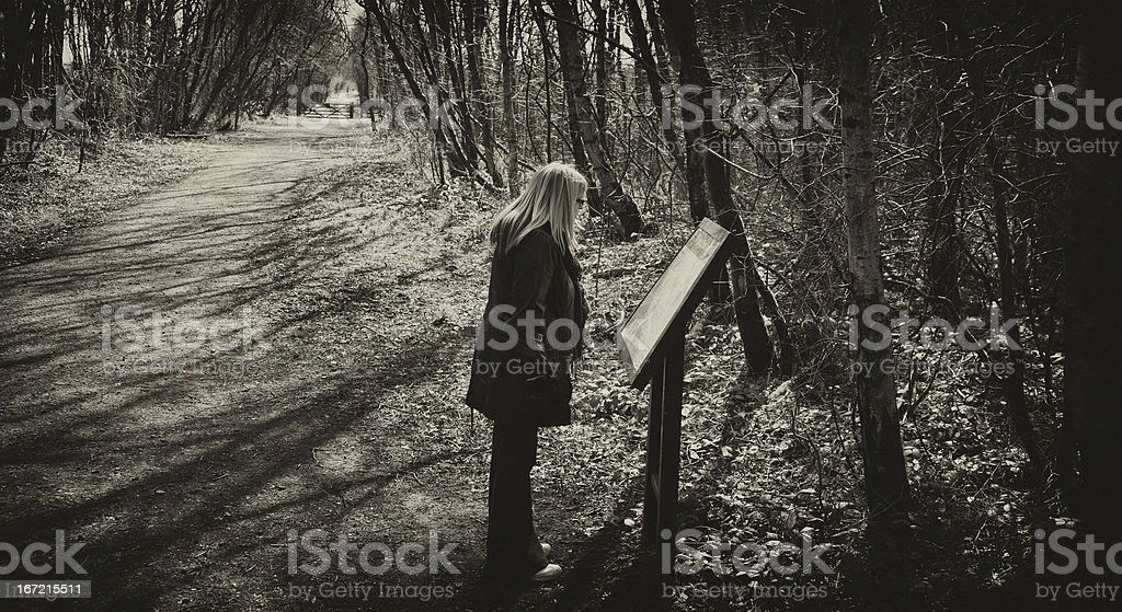 countryside walk royalty-free stock photo