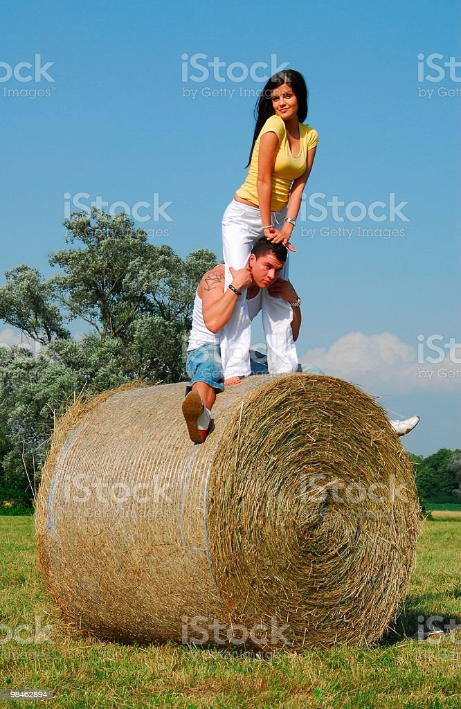 Countryside Young Couple royalty-free stock photo