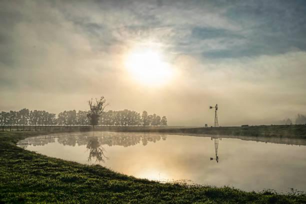 Countryside_foggy_morning stock photo