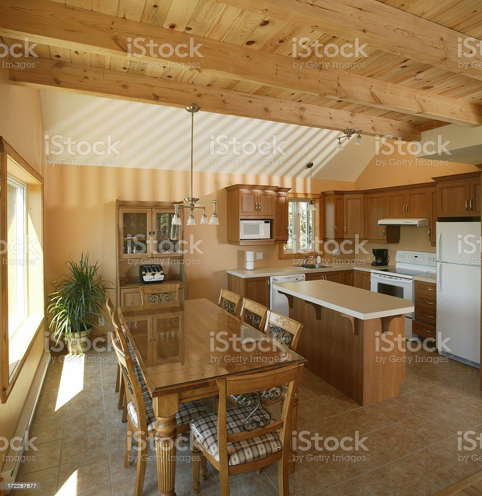 countrystyle kitchen royalty-free stock photo