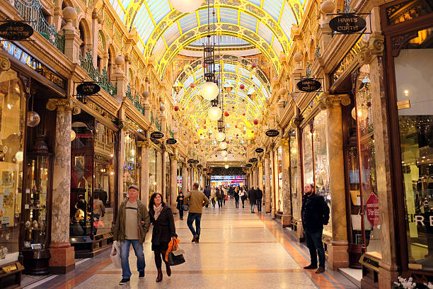 County Arcade, Leeds. stock photo
