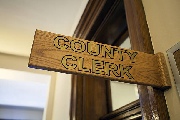 County Clerk Office stock photo