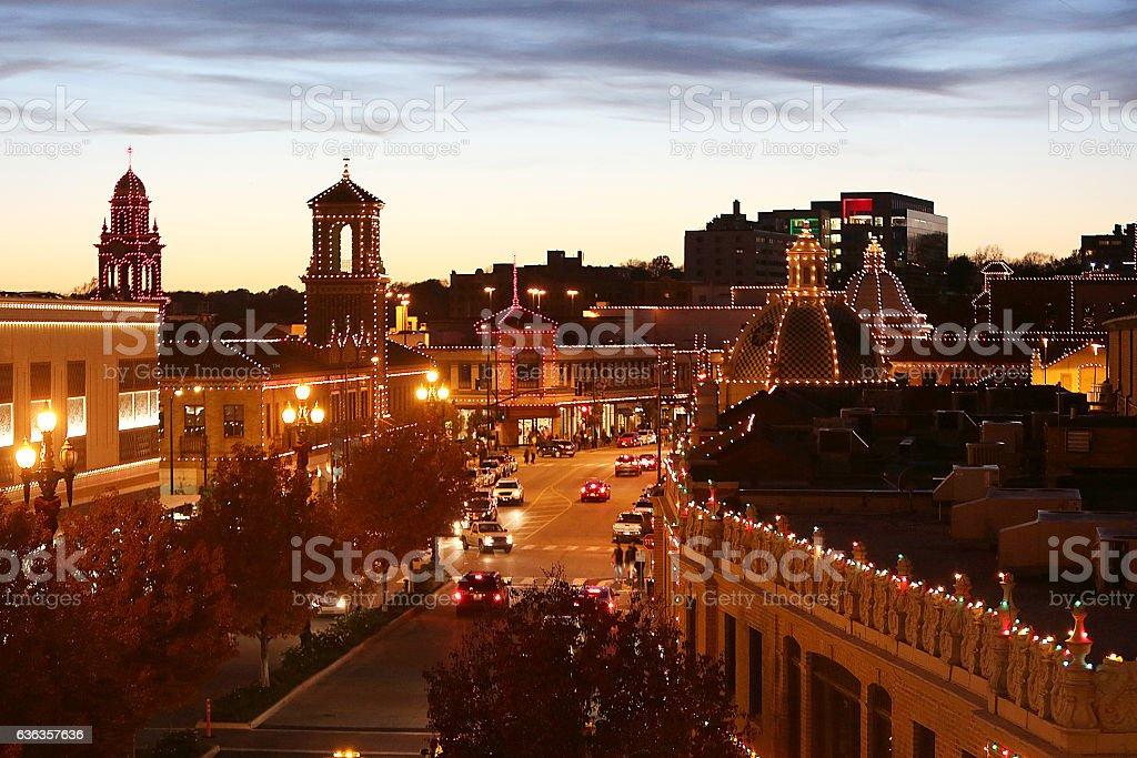 County Club Plaza Kansas City Christmas Lights Stock Photo & More ...