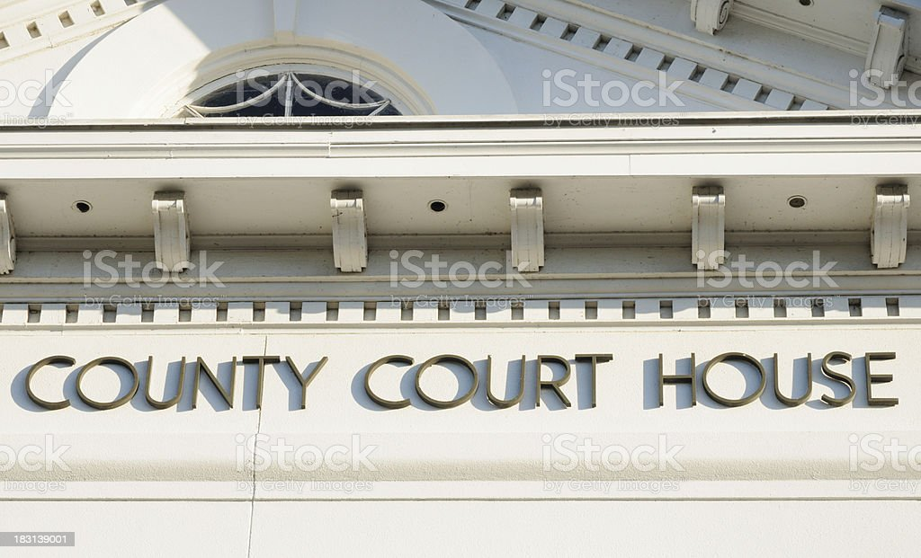 County court house sign royalty-free stock photo