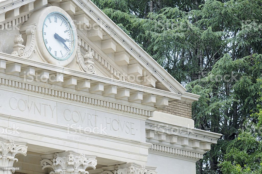 County Court House with clock royalty-free stock photo