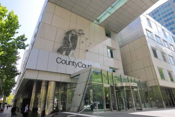 County court Melbourne Australia stock photo