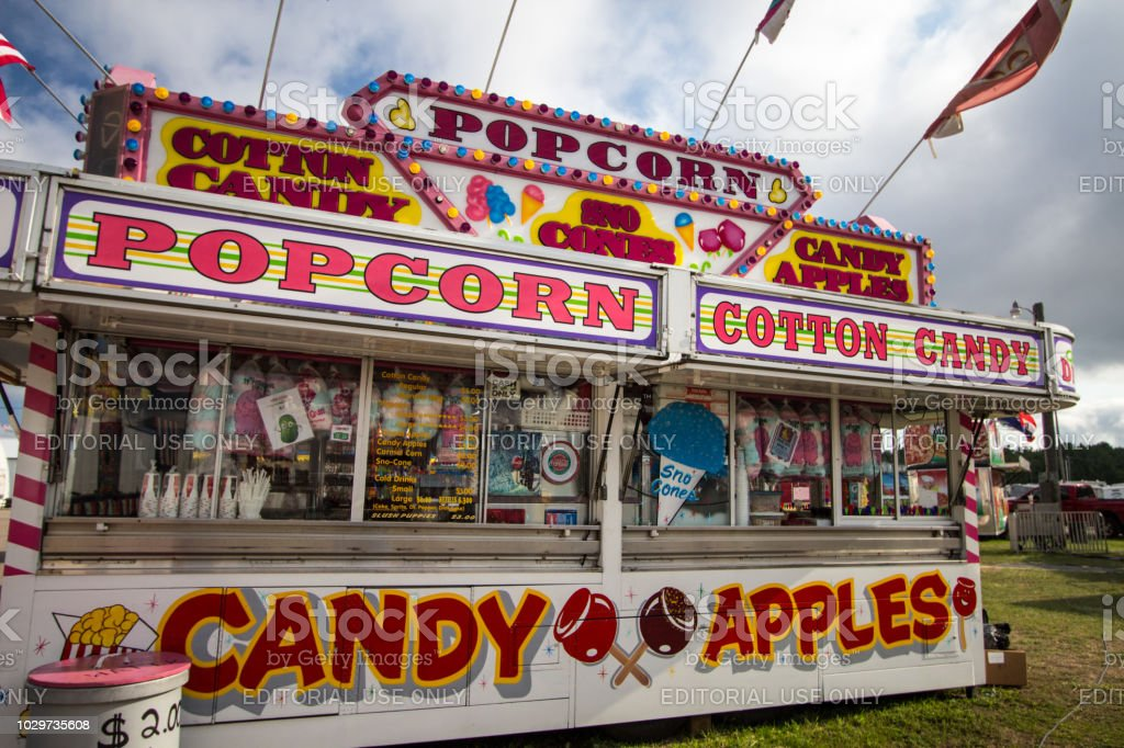 County Fair Carnival Concessions Stand stock photo