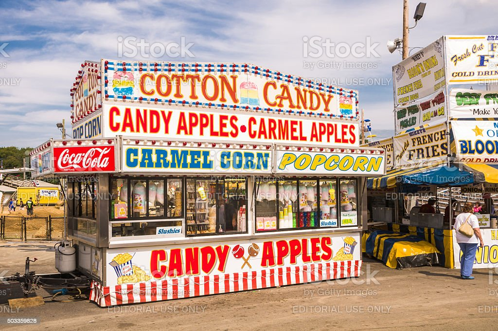 County Fair Food Selections stock photo