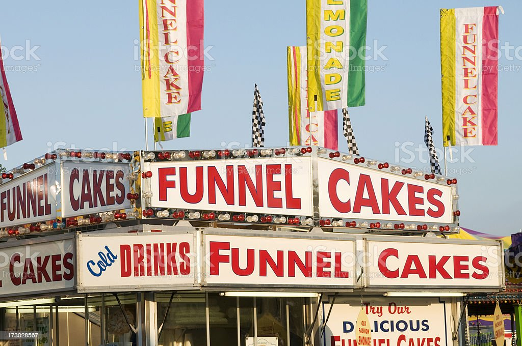 County Fair Food Stand royalty-free stock photo