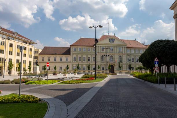 County Hall in Szombathely, Hungary stock photo