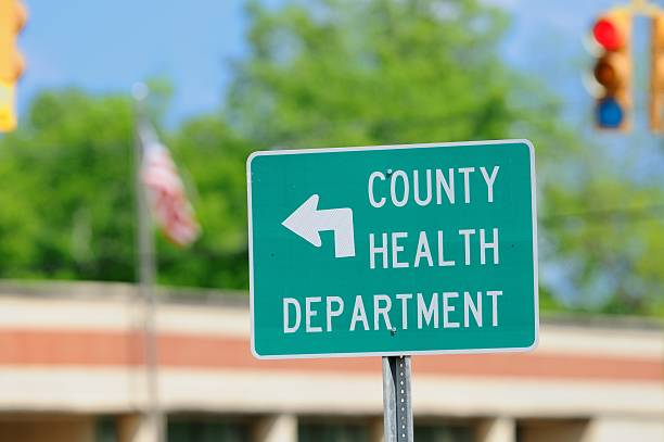 County health department road sign