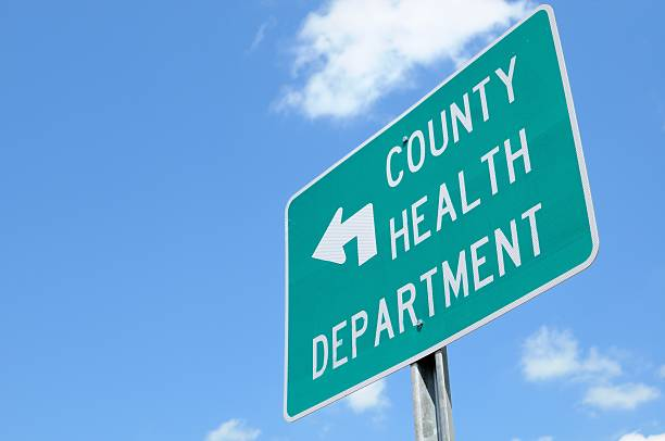 County health department sign stock photo