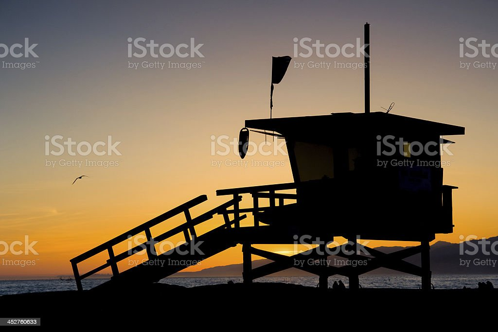 LA County Lifeguard Tower royalty-free stock photo