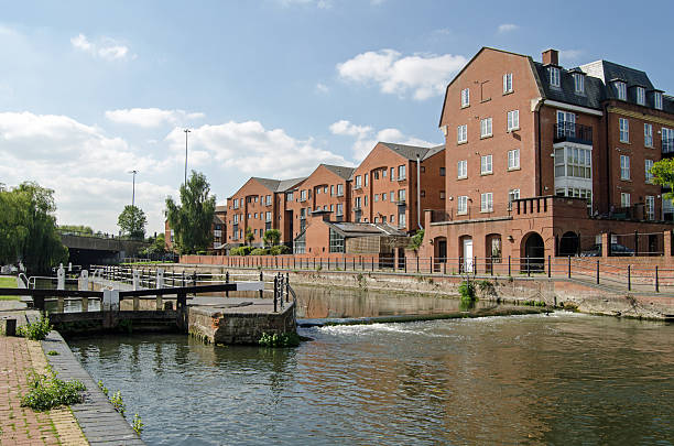 County Lock, Reading, Berkshire stock photo