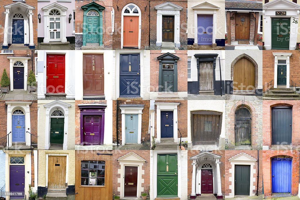 County of Shropshire Doors 32 Doors from the County of Shropshire, UK 18th Century Style Stock Photo