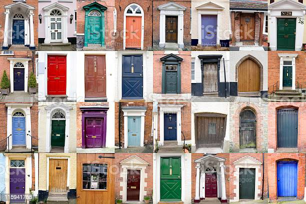 County Of Shropshire Doors Stock Photo - Download Image Now