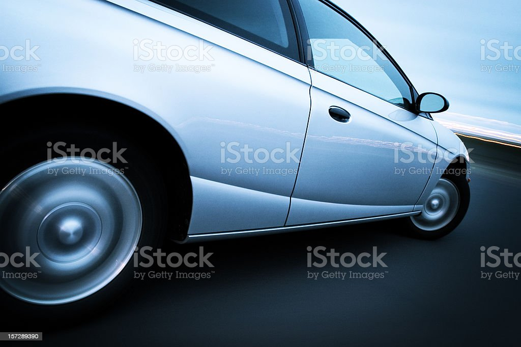 Coupe at Speed royalty-free stock photo