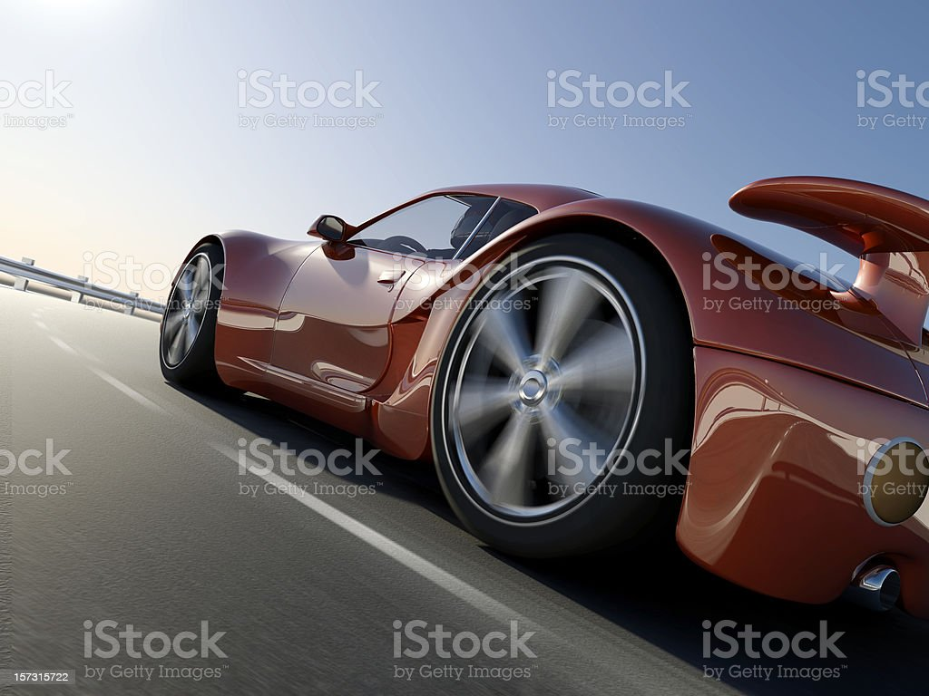 Coupe Sports Car royalty-free stock photo