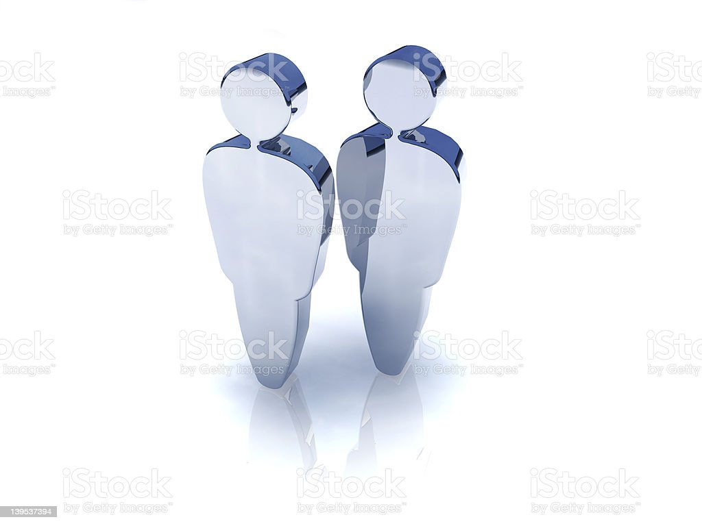 Couple 3d royalty-free stock photo