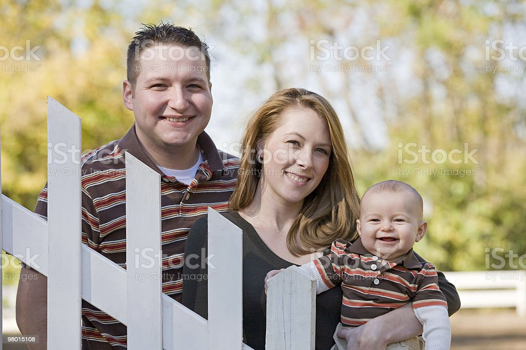 Couple and Baby royalty-free stock photo