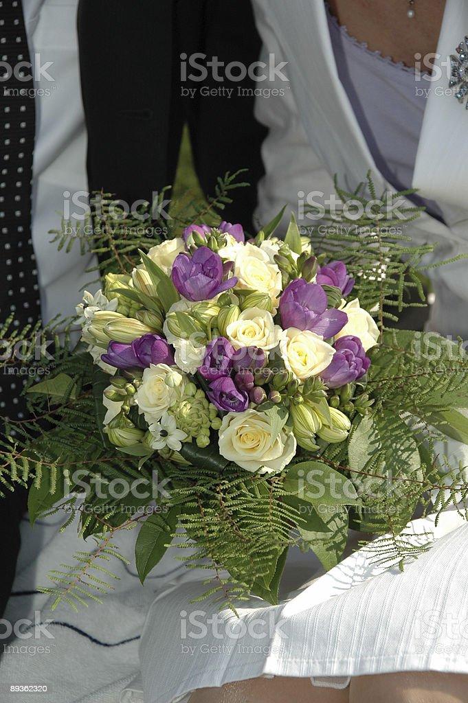 Coppia e bouquet foto stock royalty-free
