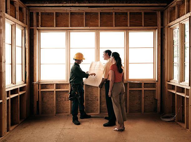 Paar und Builder – Foto