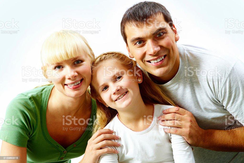 Ehepaar und deren Tochter Lizenzfreies stock-foto