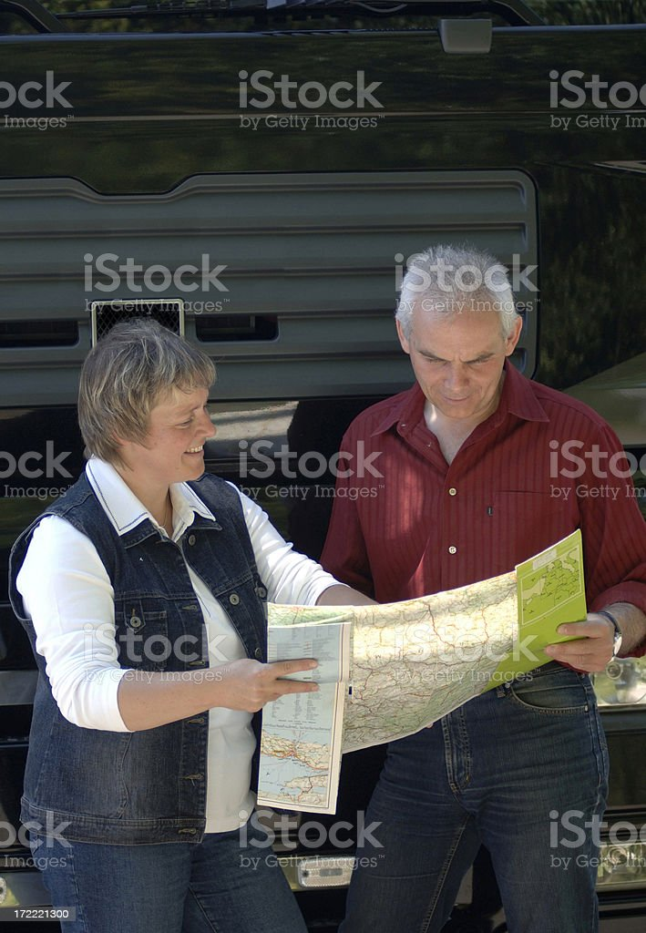 Couple and truck royalty-free stock photo